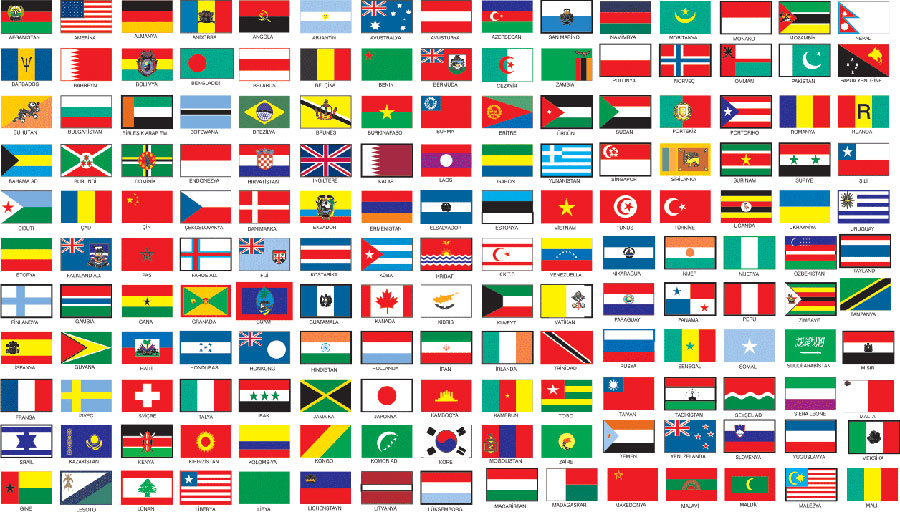 Foreign country flags